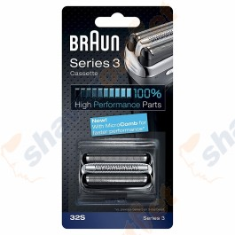 Braun 32S Series 3 Shaver Foil and Cutter Head Cassette