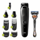 Braun MGK3260 8-in-1 Hair Clipper, Beard Trimmer, Ear and Nose Hair Trimmer Rechargeable Grooming Kit with Gillette ProGlide Razor